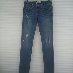 Hollister Distressed Skinny Light Wash Jeans S